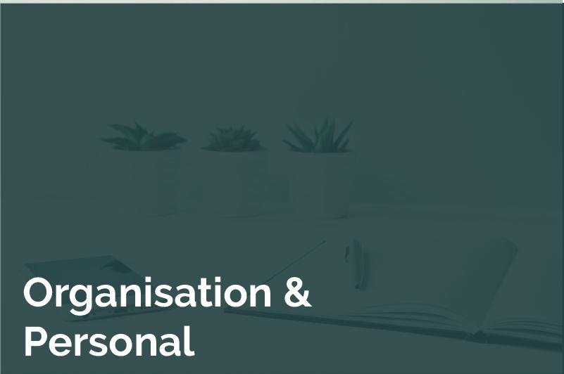 Kachel Hover Organsation und Personal
