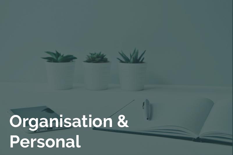 Kachel Organisation und Personal