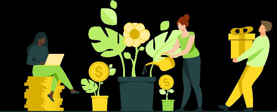 Unterstuetzung und Geld für Projekte